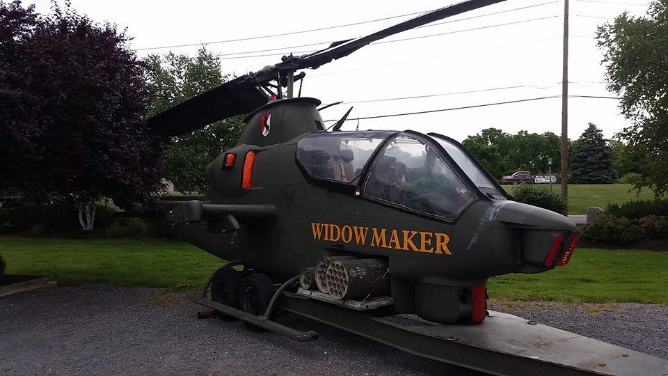 Five Vietnam War helicopters are now in Lewisburg |