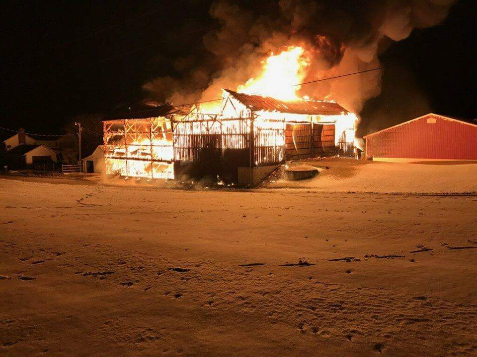 UPDATE: County Coroner out with details on barn fire death |